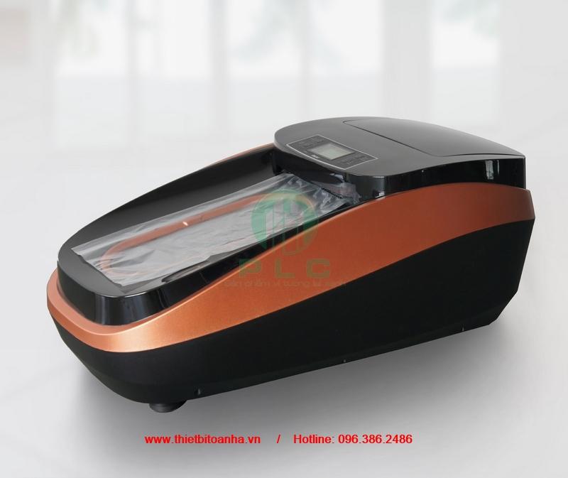 May boc giay tu dong phong sach PLCXT46C thietbitoanha.vn automatic shoe cover machine cleanroom Địa chỉ bán máy bọc giầy