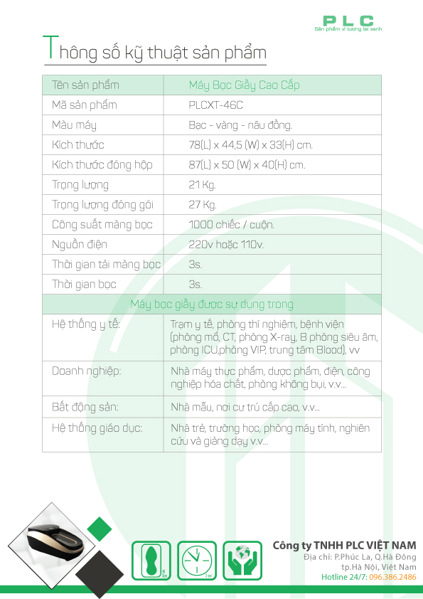 trang 3 may boc giay cao cap PLCXT 46C Bán máy bọc giầy tự động