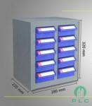 tu linh kien 10 ngan 2 chống tĩnh điện 131x150 Tủ đựng linh kiện 10 ngăn