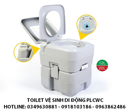 12L 20L Toilet vệ sinh di động cho người già