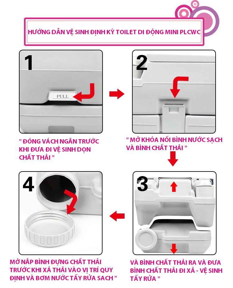 Huong dan ve sinh xa thai bo toilet ca nhan1 Bô toilet vệ sinh cá nhân