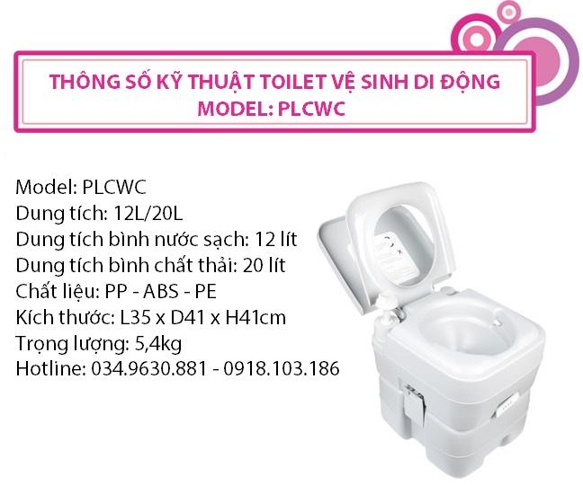 Thong so ky thuat bo toilet ve sinh ca nhan1 Toilet vệ sinh cá nhân cao cấp